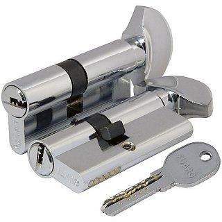 Цилиндровый механизм 100 DM/RC 80 mm (35+10+35) CP хром