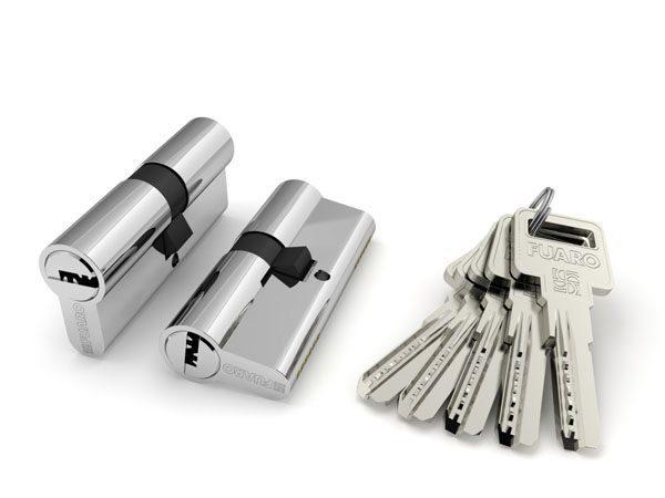 Цилиндровый механизм R600/70 mm (25+10+35) CP хром 5 кл.