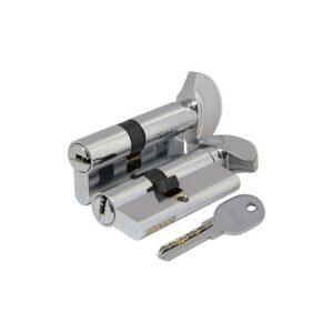 Цилиндровый механизм 100 DM/RC 90 mm (40+10+40) CP хром