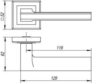 Дверная ручка BLADE QL ABG-6 зеленая бронза