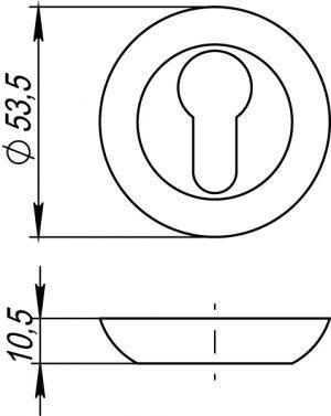 Накладка под цилиндр ET TL CFB-18 кофе глянец