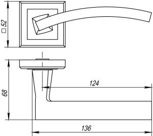 Дверная ручка NAVY QL CF-17 кофе