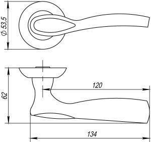 Дверная ручка RUMBA TL ABG-6 зеленая бронза