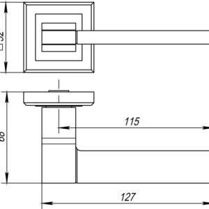 Дверная ручка TECH QL SN/CP-3 матовый никель/хром