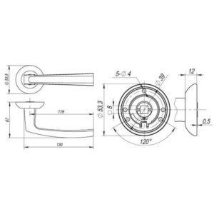 Дверная ручка VOLT RM SN/CP-3 матовый никель/хром