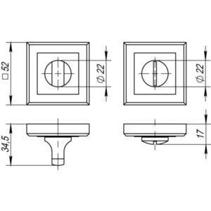 Ручка поворотная BK6 QL SN/CP-3 матовый никель/хром