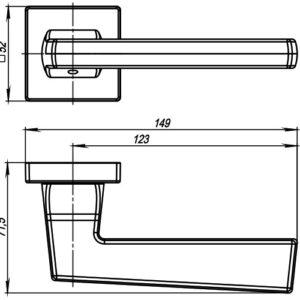 Дверная ручка GROOVE USQ5 SN/СР-12 Мат никель/хром