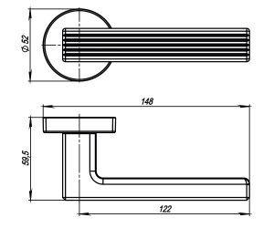 Дверная ручка LINE USQ6 SN-3 Мат никель