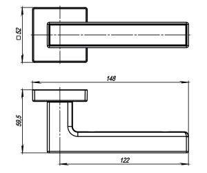 Дверная ручка SCREEN USQ8 BB/SBB-17 Кор бронза/мат кор бронза