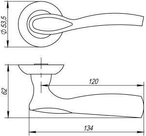 Дверная ручка RUMBA TL CF-17 кофе