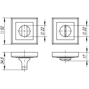 Ручка поворотная BK6 QL GR/CP-23 графит/хром