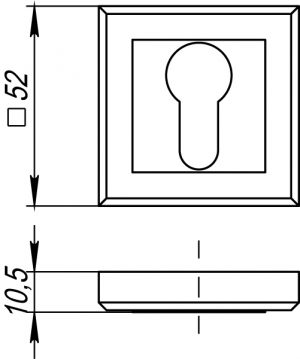 Накладка под цилиндр ET QL GR/CP-23 графит/хром