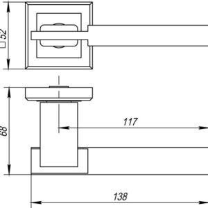 Дверная ручка CITY QL GR/CP-23 графит/хром