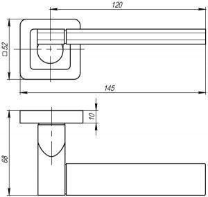 Дверная ручка GALAXY QR SN/CP-3 матовый никель/хром