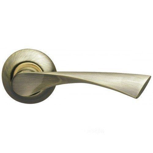 Дверная ручка Corona LD23-1AB/SG-6 бронза/матовое золото