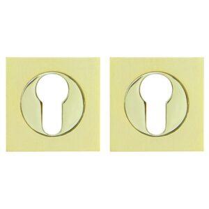 Накладка под цилиндр ET KM SG/GP-4 матовое золото/золото