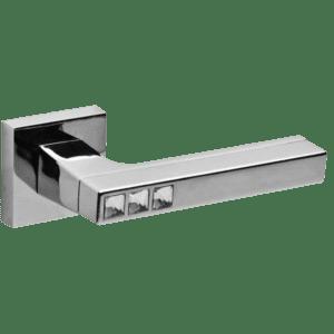 Дверная ручка CRYSTAL FLASH DM SN/CP-3 матовый никель/хром