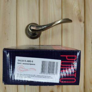 Дверная ручка SALSA TL ABG-6 зеленая бронза