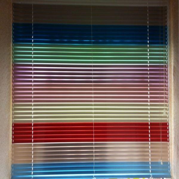 Горизонтальные жалюзи СОЛО 25 мм цветная