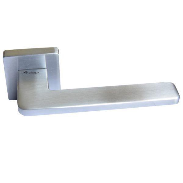 Дверные ручки System модель GIADA Матовый Хром