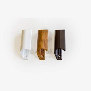 Ручка курильщика (ракушка) C - подобная белая / коричневая