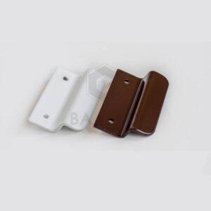 Ручка курильщика (ракушка) Z - образная белая / корр / антрацит (шуруп + колпачки в комплекте)