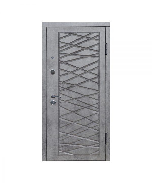 Входная дверь П-3К-116 Украина МДФ/МДФ мрамор темный Декор 4D 3 притвора (860) L