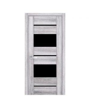 Межкомнатные двери Аскона ПВХ Viva бук кашемир с графитовым стеклом