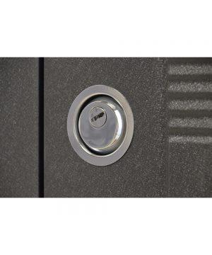 Входная дверь ПУ-132 Украина мет/МДФ венге горизонт серый (960) R (+РУЧКА)