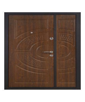 Входная дверь ПО-08 Украина МДФ/МДФ ДУБ ЗОЛ/VINORIT (минв) 1900 (960) R