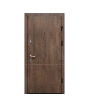 Входная дверь ПК-185 Элит Украина МДФ/МДФ Спил дерева коньячный/медовый III ПЕТЛИ (960) R