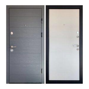 Входная дверь ПК-202 Элит Украина МДФ/МДФ Дуб грифель гор/дуб пломбир III ПЕТЛИ (860) R