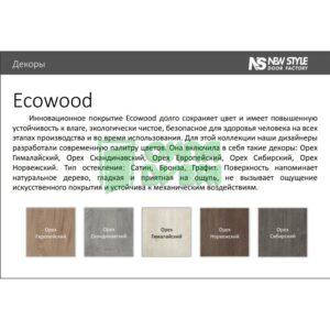 Доборная планка ЭкоВуд орех гималайский МДФ телескопическая (к-т) Н 80*10*2060