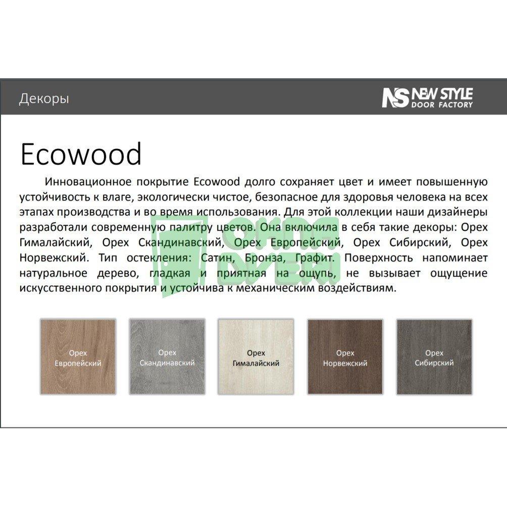 Доборная планка ЭкоВуд орех европейский МДФ телескопическая (к-т) Н 80*10*2060