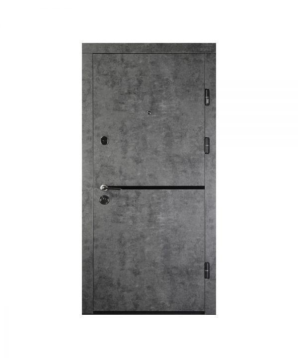 Входная дверь ПК-209 Элит Украина МДФ/МДФ Мрамор темный/молд Антр. III ПЕТЛИ (860) R (100 короб)