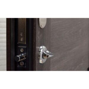 Входная дверь ПК-180/161 Украина МДФ/МДФ венге горизонт темн/Царга шале III ПЕТЛИ (960) L