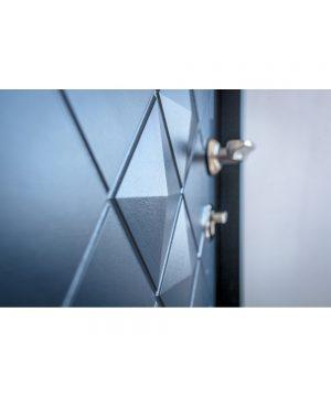 Входная дверь П-3К-112 Украина МДФ/МДФ VINORIT графит Декор 3D 3 притвора III ПЕТЛИ (960) R