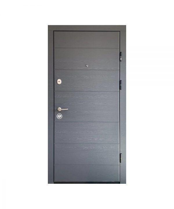Входная дверь ПК-202 Элит Украина МДФ/МДФ Дуб грифель гор/дуб пломбир III ПЕТЛИ (860) L