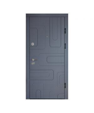 Входная дверь ПК-52 Украина МДФ/МДФ софт грей III ПЕТЛИ (860) L