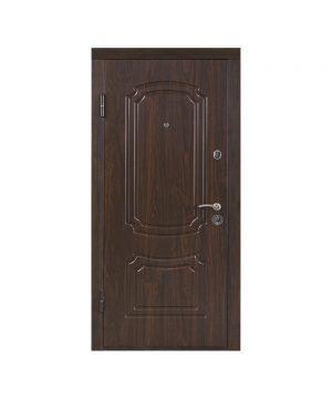 Входная дверь ПО-01 Украина МДФ/МДФ орех коньячный (минв) (960) R