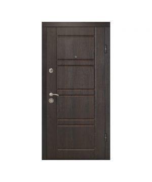 Входная дверь ПО-09 Украина МДФ/МДФ ВЕНГЕ ТЕМНОЕ/ДУБ БЕЛ (минв) (960) R