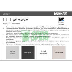 Доборная планка Premium антрацит МДФ телескопическая (к-т) Н 400*10*2060