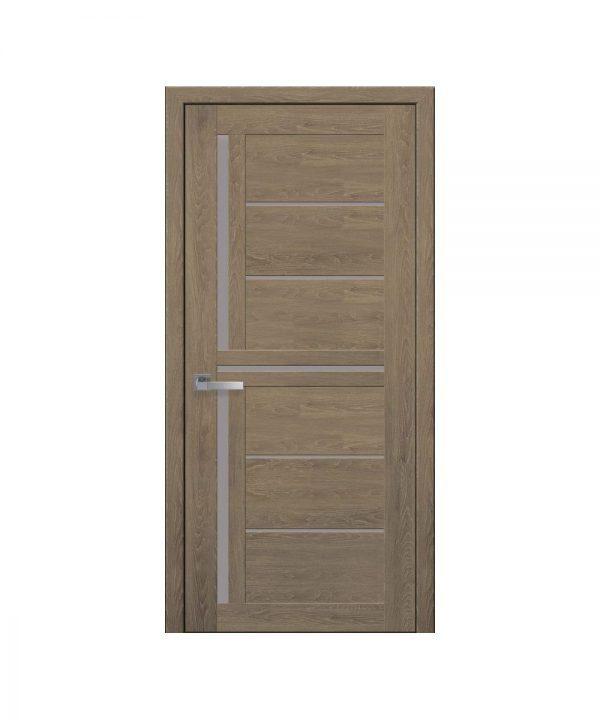Межкомнатные двери Диана ПВХ Ультра дуб медовый со стеклом сатин