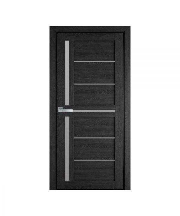 Межкомнатные двери Диана ПВХ Ультра дуб серый со стеклом сатин