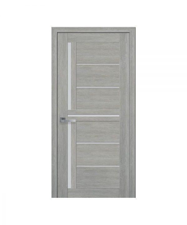 Межкомнатные двери Диана ПВХ Ультра дуб дымчатый со стеклом сатин
