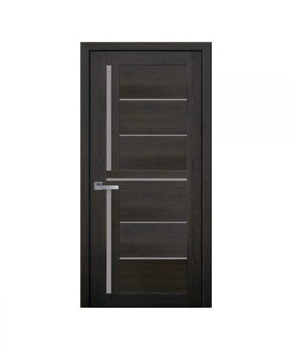 Межкомнатные двери Диана ПВХ Ультра дуб мускат со стеклом сатин