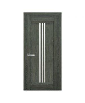Межкомнатные двери Рейс Нано Флекс дуб графит со стеклом сатин