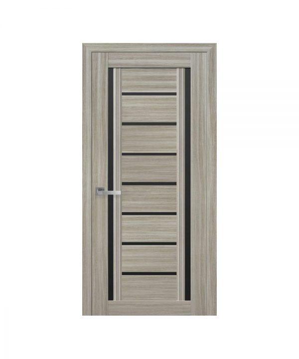 Межкомнатные двери Флоренция С2 Смарт жемчуг magica С черным стеклом