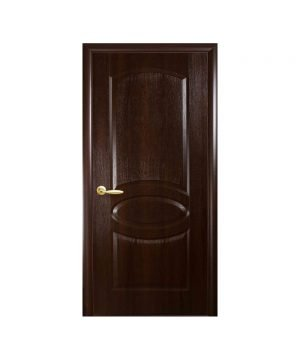 Межкомнатные двери Овал TP UM ПВХ DeLuxe каштан Глухое