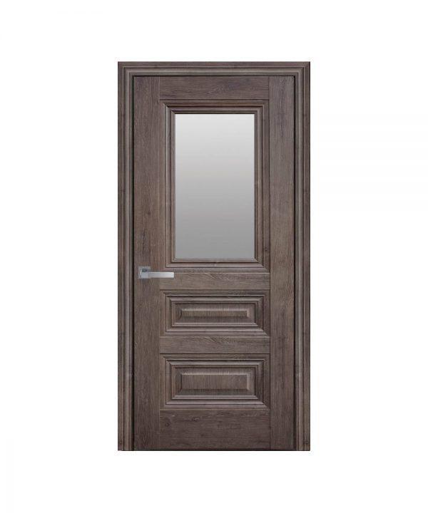 Межкомнатные двери Камилла ЭкоВуд орех норвежский со стеклом сатин